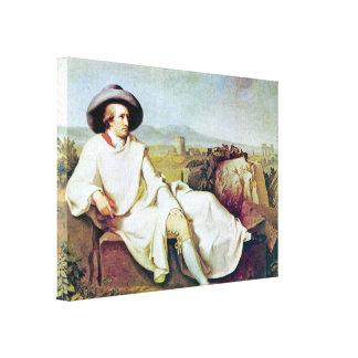 Johann Heinrich Wilhelm - Goethes portrait Canvas Print