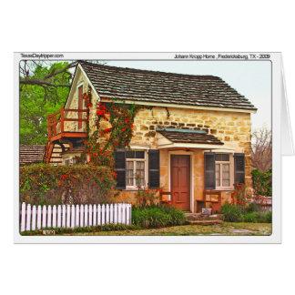Johann Knopp Home, Fredericksburg, TX Card