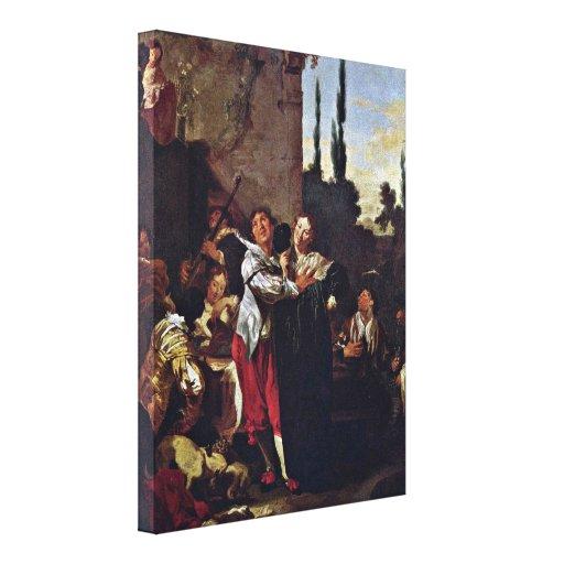 Johann Liss - The Prodigal Son Stretched Canvas Prints