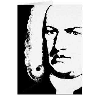 Johann Sebastian Bach abstractly in black and Card
