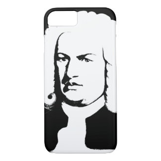 Johann Sebastian Bach abstractly in black and iPhone 8/7 Case