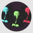 Johann Sebastian Bach Collage Classic Round Sticker