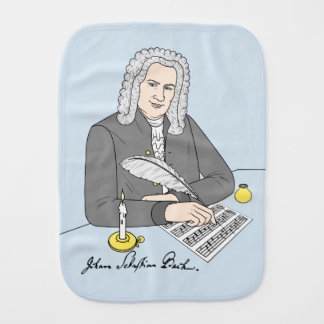 Johann Sebastian Bach drawn Burp Cloth