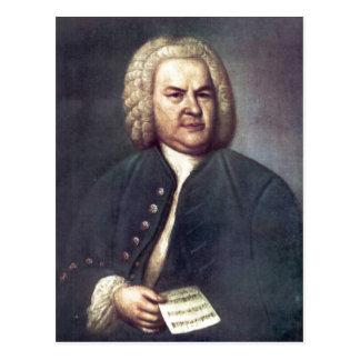 Johann Sebastian Bach im Jahre 1746, mit R?tselkan Postcard
