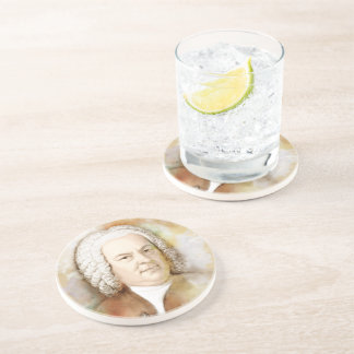 Johann Sebastian Bach in the water color style Coaster
