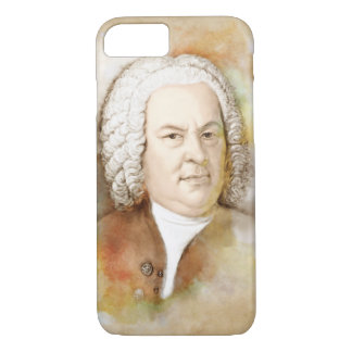 Johann Sebastian Bach in the water color style iPhone 8/7 Case