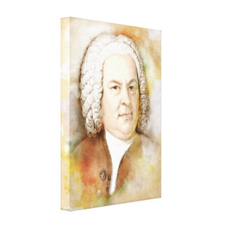 Johann Sebastian Bach on Canvas - Watercolor-Style