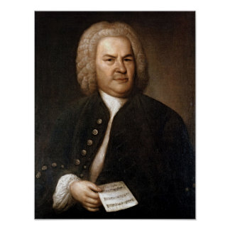 Johann Sebastian Bach Portrait Poster