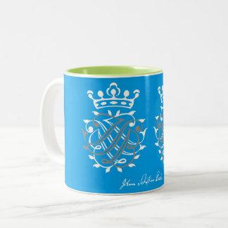 Johann Sebastian Bach seal JSB + BSJ Two-Tone Coffee Mug