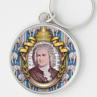 Johann Sebastian BACH Silver-Colored Round Keychain