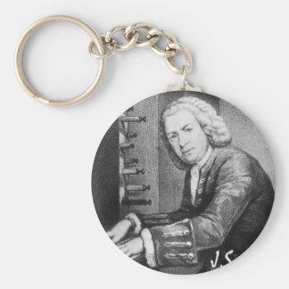 Johann Sebastian Bach Stuff Basic Round Button Keychain