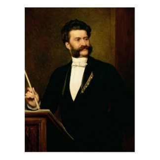 Johann Strauss the Younger, 1888 Postcard
