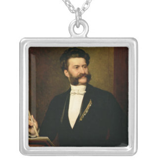 Johann Strauss the Younger, 1888 Silver Plated Necklace