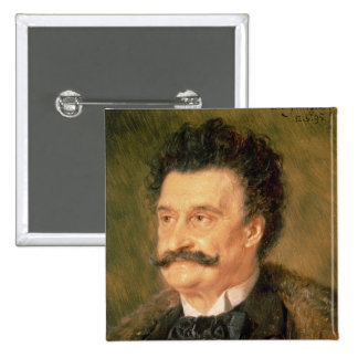 Johann Strauss the Younger, 1895 2 Inch Square Button