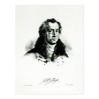Johann Wolfgang Goethe  engraved by Delacroix Postcard