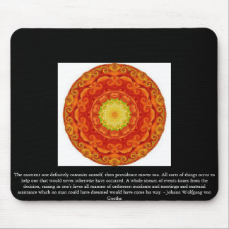 Johann Wolfgang von Goethe QUOTATION Mouse Pad