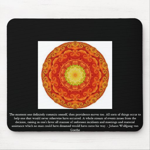 Johann Wolfgang von Goethe QUOTATION Mouse Pads