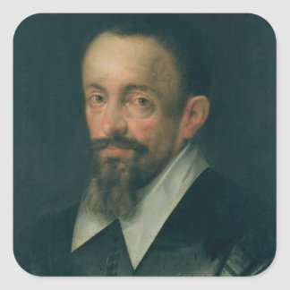 Johannes Kepler , astronomer, c.1612 Square Sticker