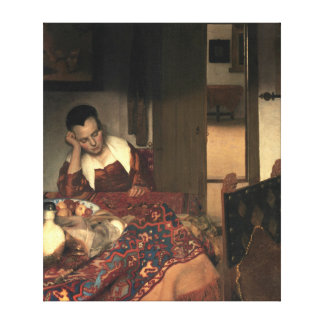 Johannes Vermeer A Maid Asleep Canvas Print