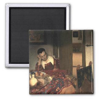 Johannes Vermeer A Maid Asleep Magnet