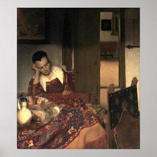 Johannes Vermeer A Maid Asleep Poster