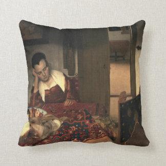 Johannes Vermeer A Maid Asleep Throw Pillow