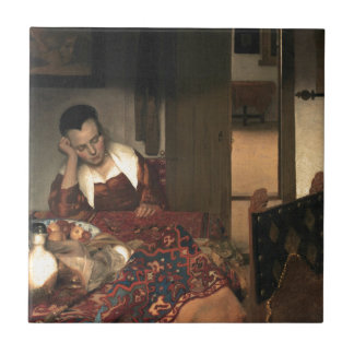 Johannes Vermeer A Maid Asleep Tile