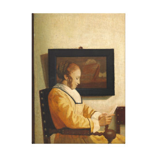 Johannes Vermeer A Young Woman Reading Canvas Print