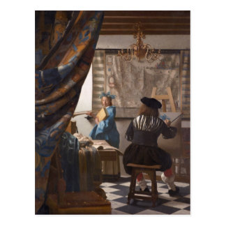 Johannes Vermeer - Allegory of the Art of Painting Postcard