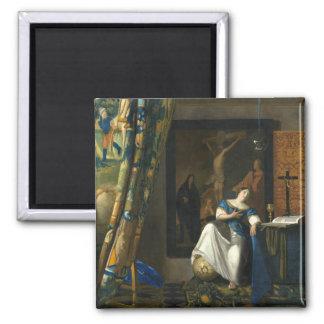Johannes Vermeer Allegory of the Catholic Faith Magnet