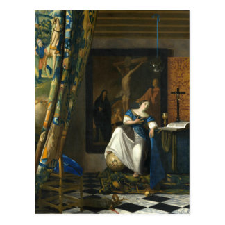Johannes Vermeer Allegory of the Catholic Faith Postcard