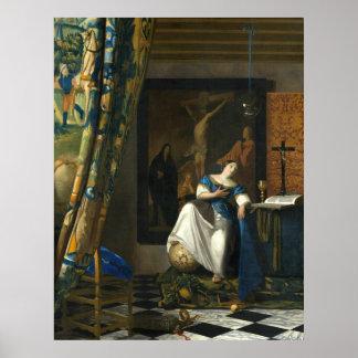 Johannes Vermeer Allegory of the Catholic Faith Poster