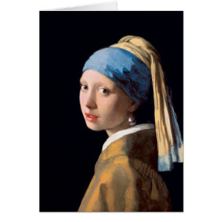JOHANNES VERMEER - Girl with a pearl earring 1665 Card