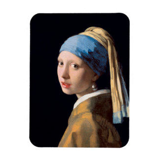 JOHANNES VERMEER - Girl with a pearl earring 1665 Magnet