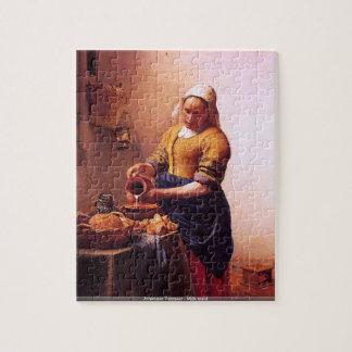 Johannes Vermeer - Milk maid puzzle