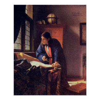 Johannes Vermeer, The Geographer Poster