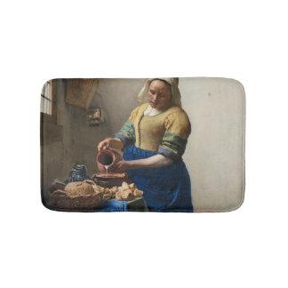 JOHANNES VERMEER - The milkmaid 1658 Bath Mat