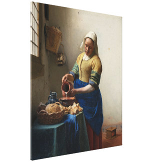 JOHANNES VERMEER - The milkmaid 1658 Canvas Print