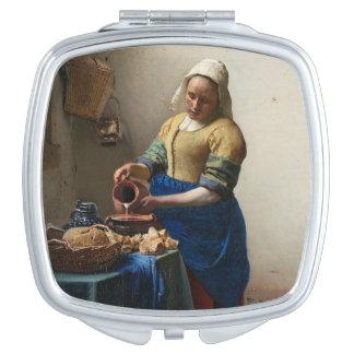 JOHANNES VERMEER - The milkmaid 1658 Compact Mirrors