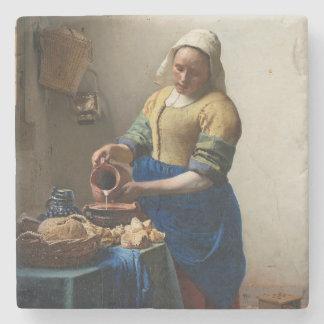 JOHANNES VERMEER - The milkmaid 1658 Stone Coaster