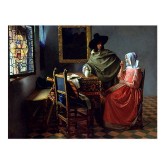 Johannes Vermeer The Wine Glass Postcard