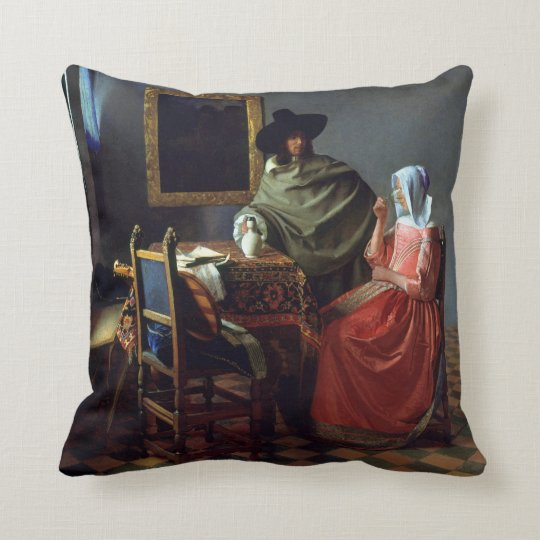 Johannes Vermeer The Wine Glass Throw Pillow