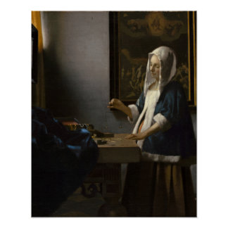 Johannes Vermeer, Woman Holding a Balance Poster