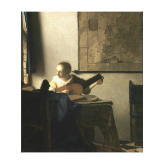 Johannes Vermeer Woman with a Lute Canvas Print