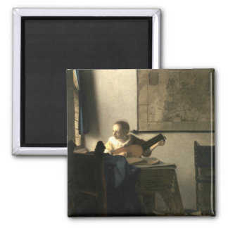 Johannes Vermeer Woman with a Lute Magnet