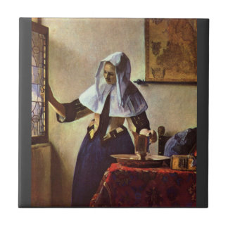 Johannes Vermeer - Young woman with a water jug at Tile
