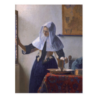 Johannes Vermeer, Young Woman With a Water Jug C Postcard