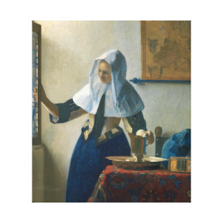 Johannes Vermeer Young Woman with a Water Pitcher Canvas Print