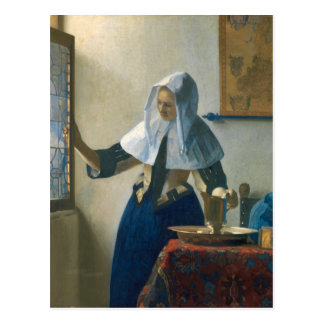 Johannes Vermeer Young Woman with a Water Pitcher Postcard