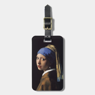 Johannes Vermeer's Girl with a Pearl Earring Bag Tag